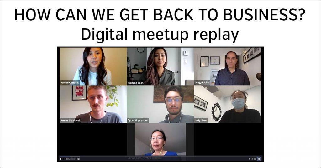 Digital meetup replay