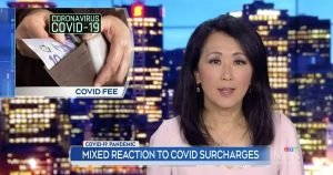 Screen shot of CTV new item about COVID surcharges