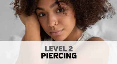 Woman with nose piercing