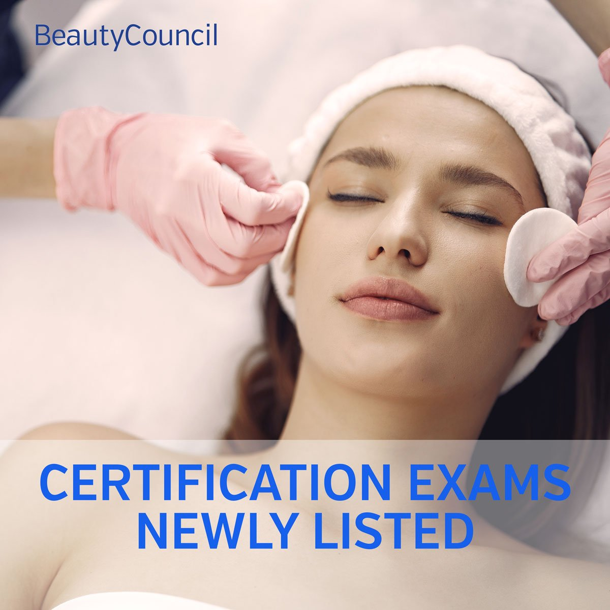 Certification exams listed for Esthetics and Waxing