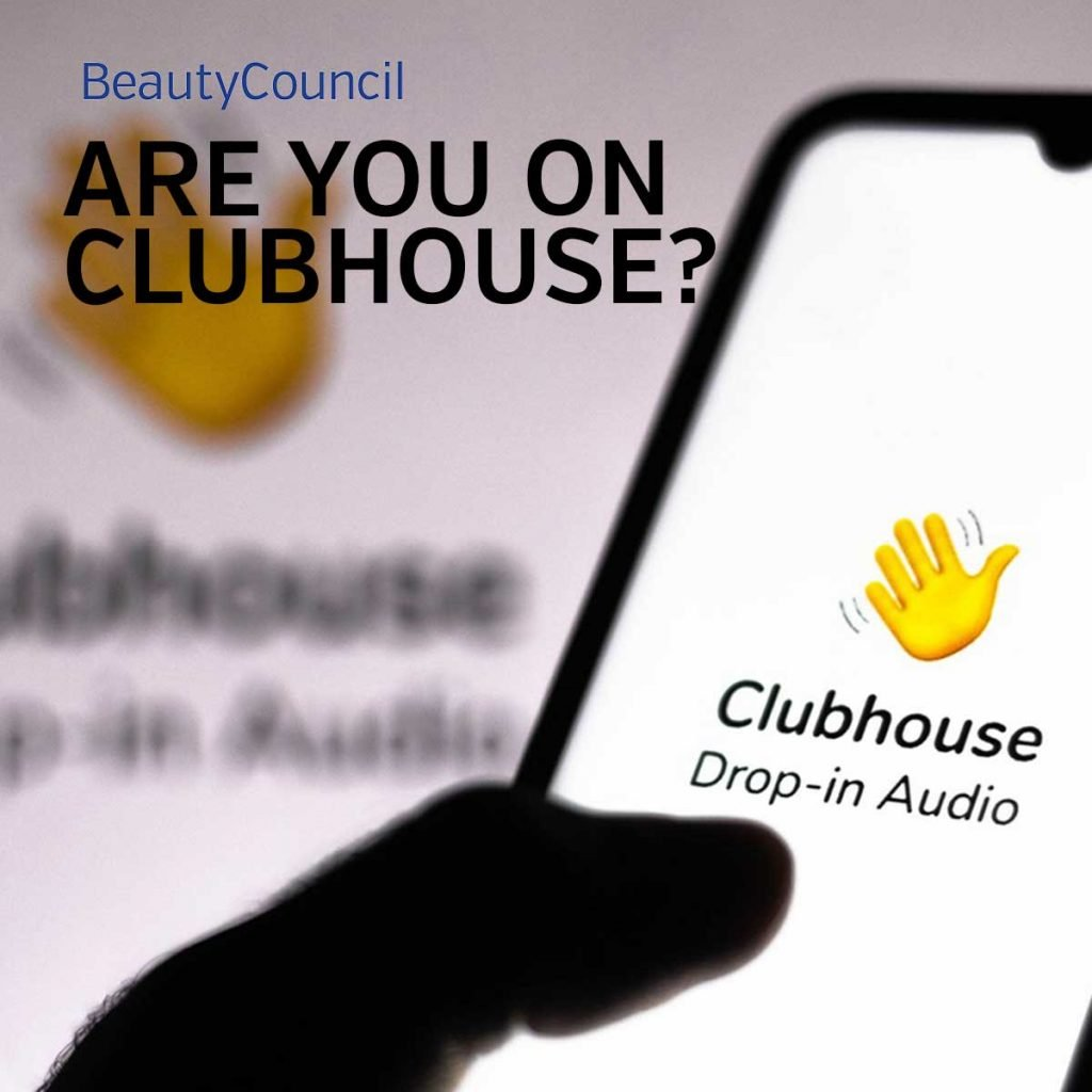 iPhone with clubhouse artwork