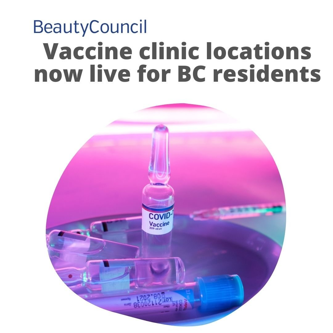 Website links for COVID-19 vaccine clinic locations are now live