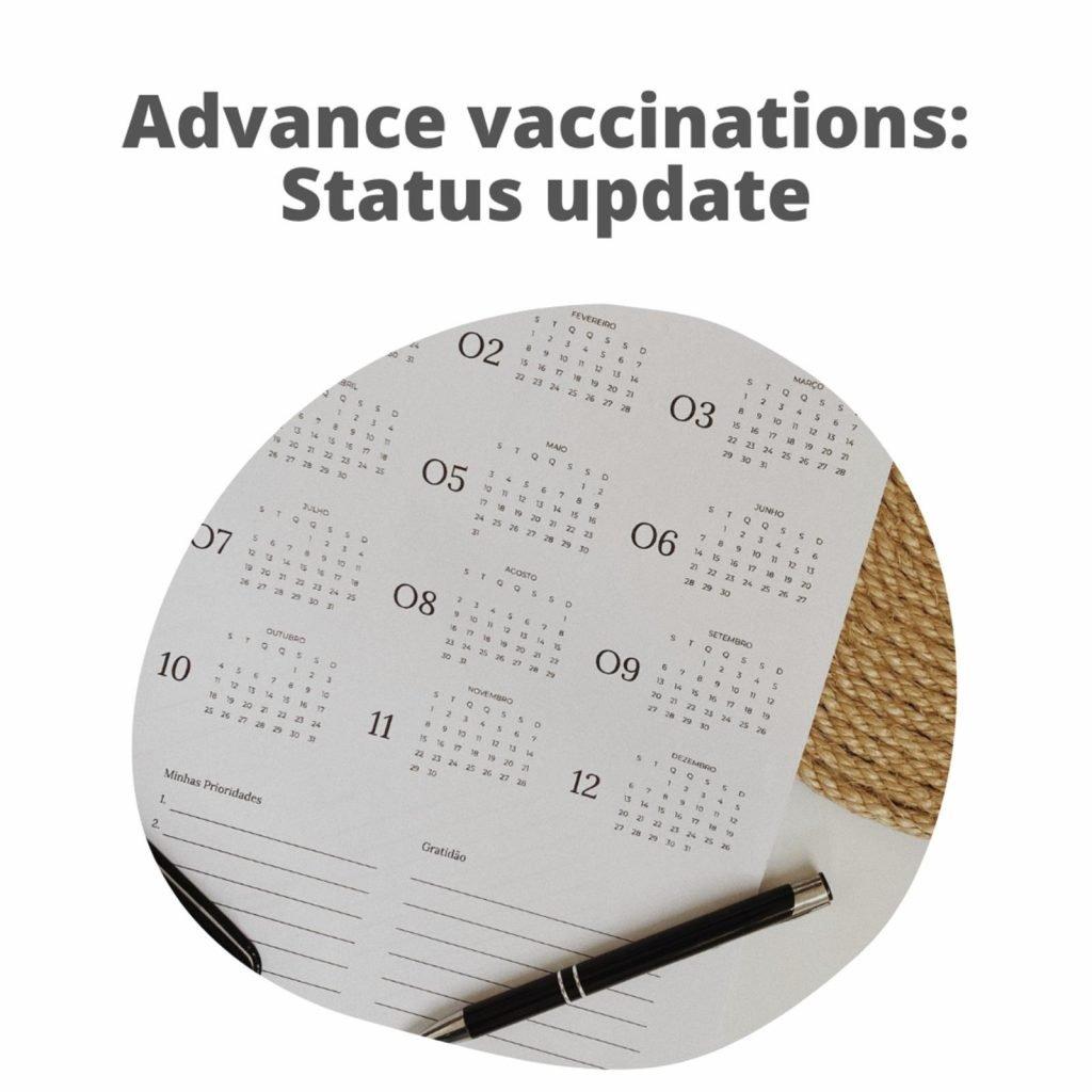 Advance Vaccination Update