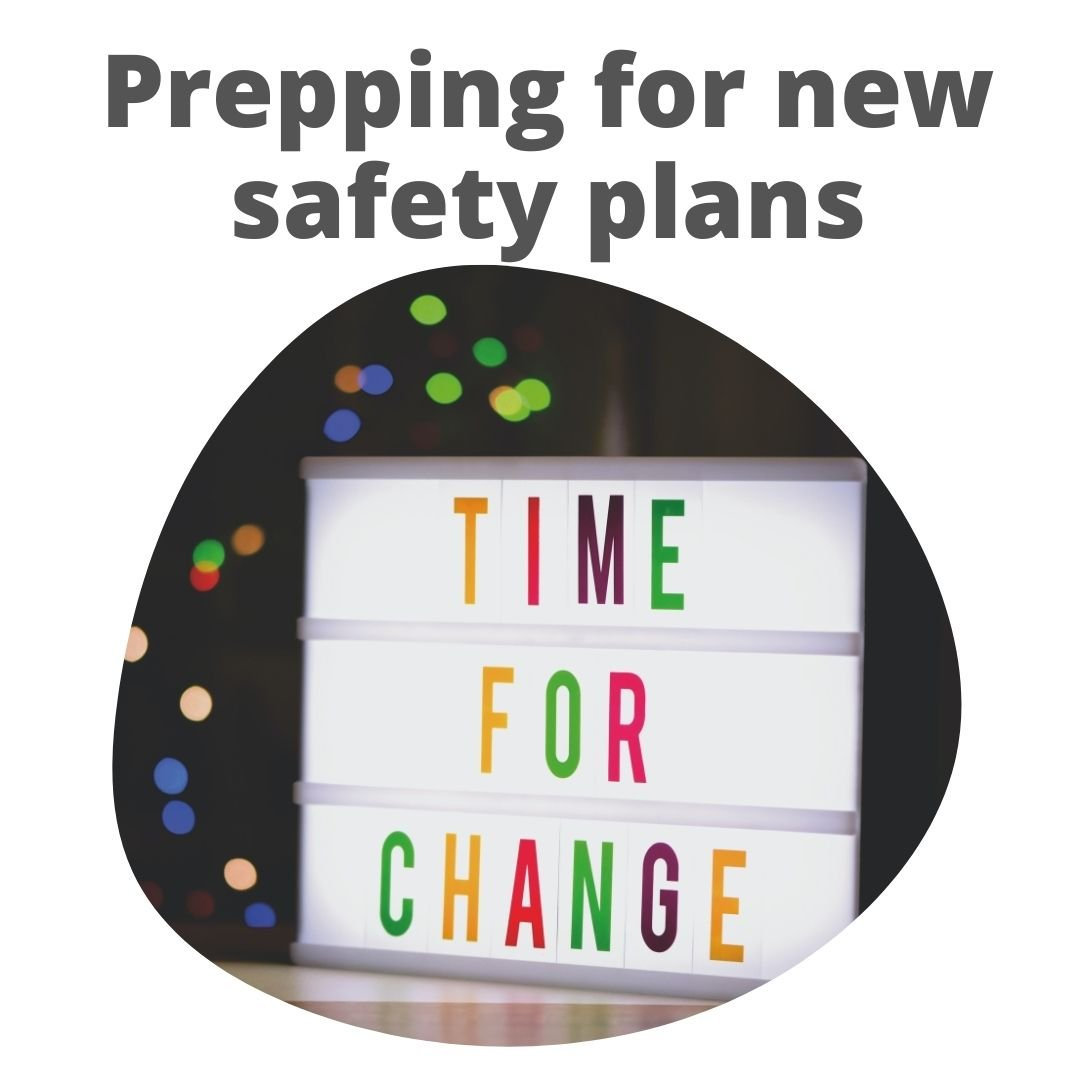 Transitioning from COVID-19 safety plans